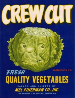 Crewcut Vegetable Label Art free cross stitch pattern