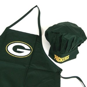 Green Bay Packers Apron and Hat Chef Set