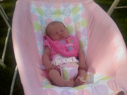 Baby Ella loves her Rock n Play Sleeper!