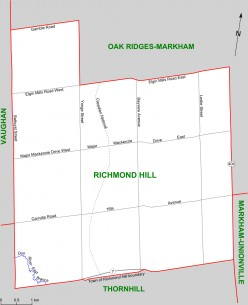 Federal and Provincial Riding of Richmond Hill