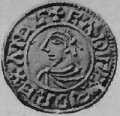 A penny from the reign of King Edward the Martyr (Grueber, H A, Handbook of the coins of GB & Ireland in the British Museum, 1899)
