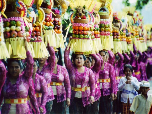 A procession for a religious ceremony