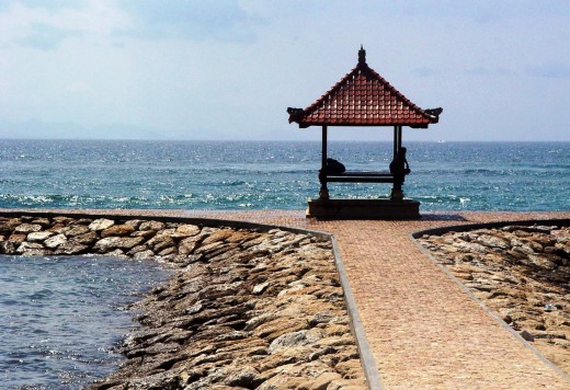 A Gazebo for sea gazing at Sanur beach