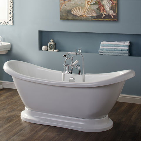 Boat Roll Top Bath
