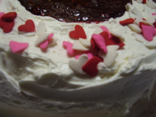 Valentines Day is a great time to make a cake Image:(c) Marye Audet