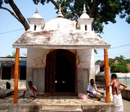 The Pancha Ratna (5 pinnacled) temple of Nandy the holy Bull