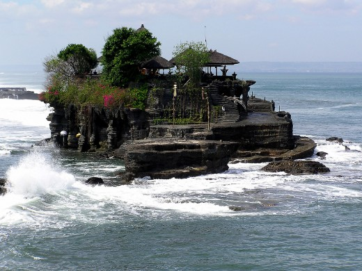 The Tanah Lot Hindu temple