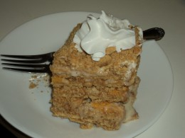 Mango Float with Whipped Cream on Top