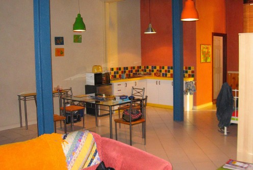 Our overwhelmingly colourful warehouse flat (short-term lease via Tourist Info)