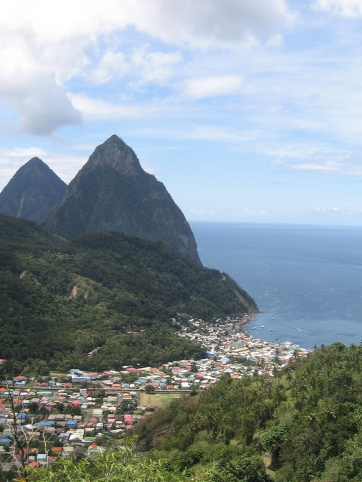 The Pitons, Soufriere