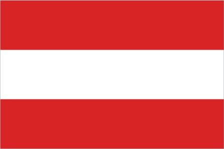 The flag of Austria. Image courtesy of Austria.