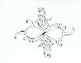 infinity tattoo designs on Infinity Symbol designed as a lower back piece for a woman's tattoo