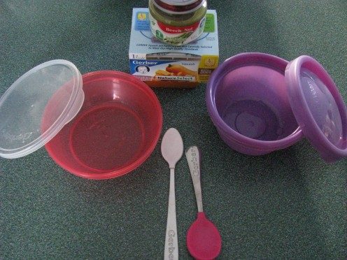 Baby spoons and bowls