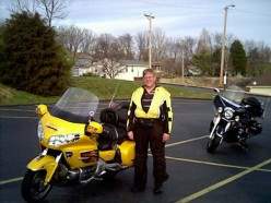 My dream machine..Honda Goldwing.  A motorcycle Mercedes.  Since I match that bike, I wonder if the owner will let me have it.