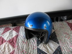 1972 era 3/4 face helmet