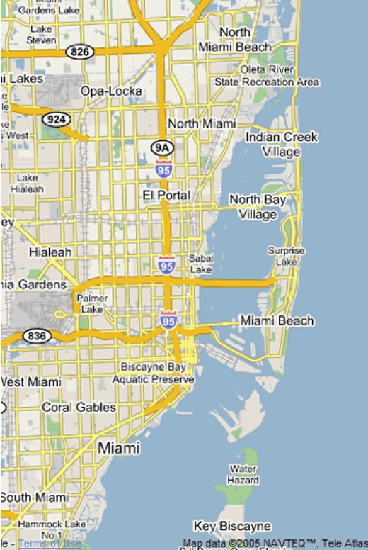 A map of Miami