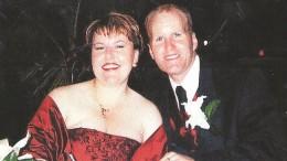 Happier days. Arthur Freeman with his former wife, Peta Barnes