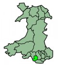 Map location of Bridgend, Wales
