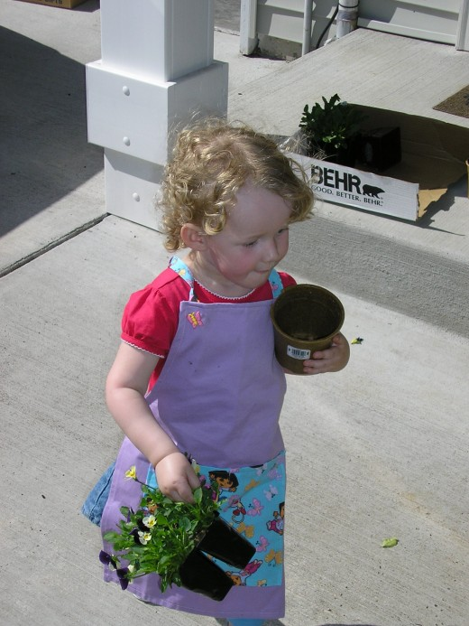 My daughter, Haley, a couple of years ago when she first started gardening