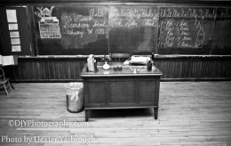 An old school room.