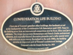 Historical plaque, Confederation Life Building, Richmond Street East, Toronto