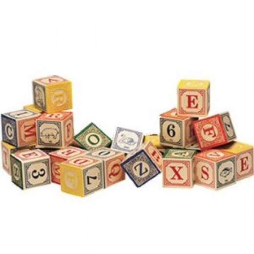The Classic Embossed Alphabet Blocks will help your child's development throughout the years.