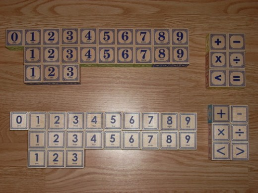 The blocks can be used to learn numbers and math formula too.