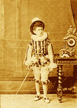 Spanish composer Manuel de Falla when child