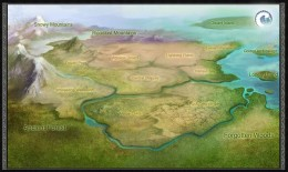 A map of the playable regions in War of Legends.