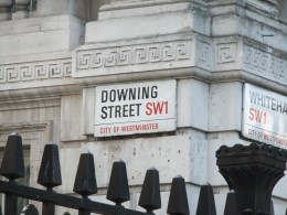 A rather self-explanatory photo of the beginning of Downing Street