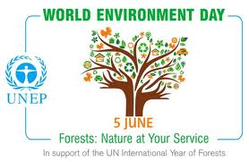 The theme diagram of world environment day