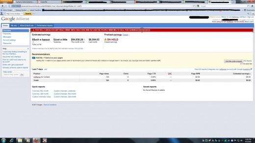 AdSense Account Earnings