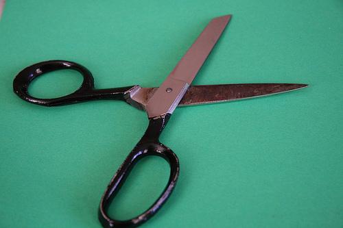 A pair of scissors.