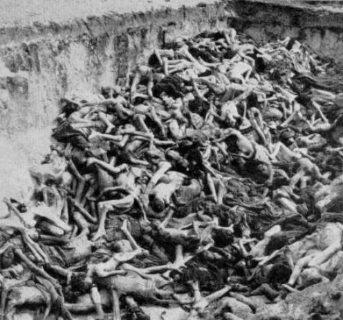 A mass grave at Belsen Concentration camp