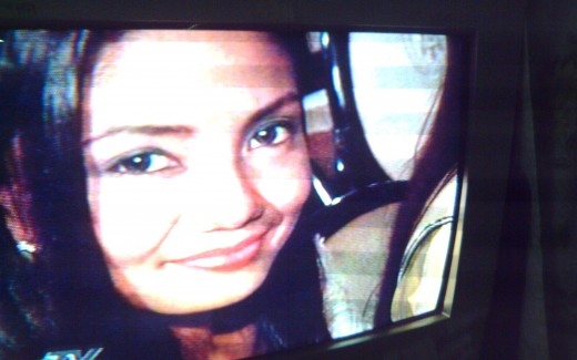 The newly-crowned Athena Imperial, Miss Philippines Earth 2011, being interviewed by ABS-CBN Channel 2 reporter (photo by Travel Man on TV-June 6, 2011)