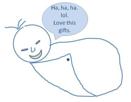 Gifts that tickles even the baby.