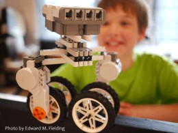 Teaching kids logic using robotics and programming at the AVA Gallery in Lebanon, NH