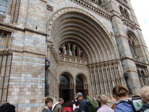 The doors of the Natural History Museum