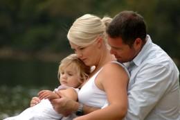 My daughter Em, with hub Brad and daughter Ella