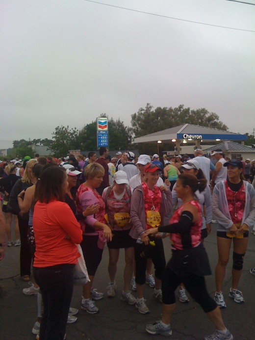 Getting ready to race the Santa Ynez half marathon