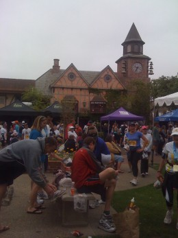 Milling post race in downtown Solvang
