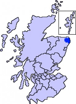 Map location of Buchan, Aberdeenshire
