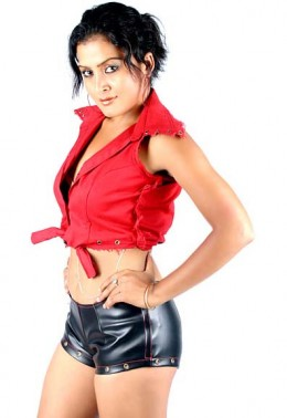 Rekha Thapa in a challenging look