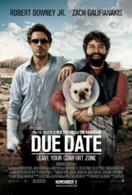 Due date, starring Robert Downey Jr ,Zach Galifianakis,Michelle Monaghan and an appearance by Jamie Foxx.