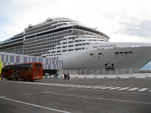 MSC Cruise Ship Splendida docked in Marseille, France