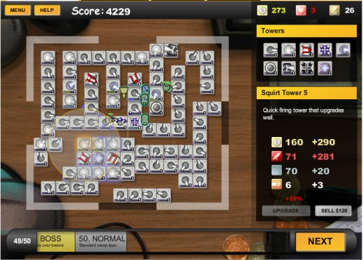 Final waves of a basic game.