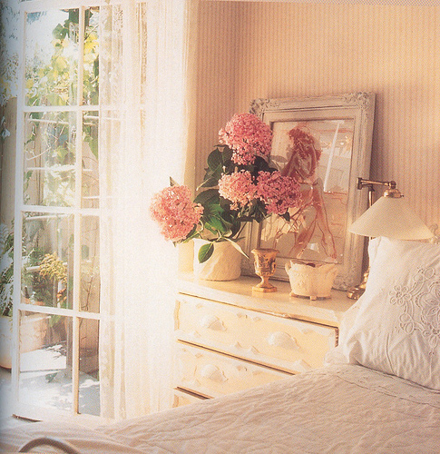 An inspiring picture or a picture of a loved one or a vase of flowers can relax you as you set eyes on them.