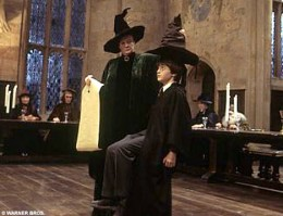 Professor McGonagall, Harry and the Sorting Hat