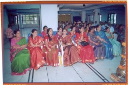 A wedding function in India furnishes varieties of sarees to see.( check how many colours and designs you can see here)