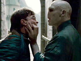 Harry and Voldemort in The Deathly Hallows-Part 2